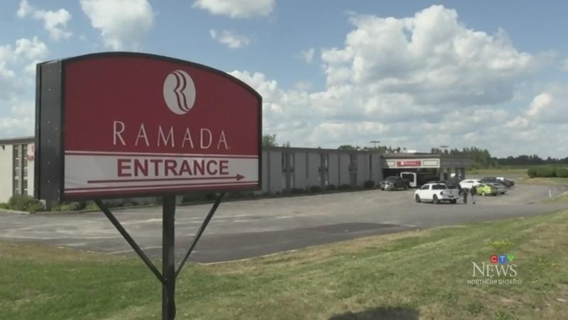 Ramada Inn hosting evacuees from Fort Hope. Aug. 13/20 (Sergio Arangio/CTV Northern Ontario)