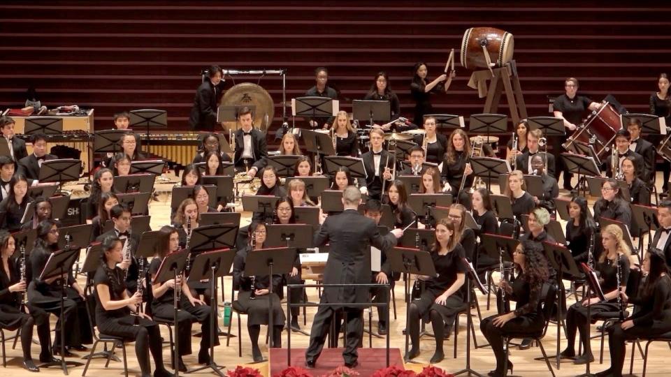 Brendan Hagan conducting at Jack Singer