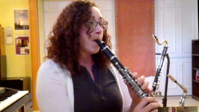 Amanda Kinnear has incorporated video in much of her private clarinet lessons.