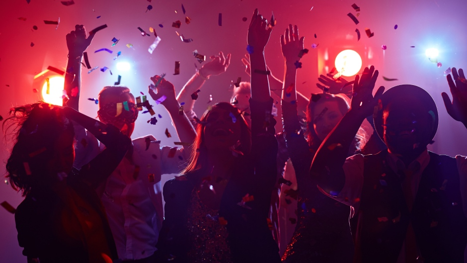 A party is seen in an image from shutterstock.com
