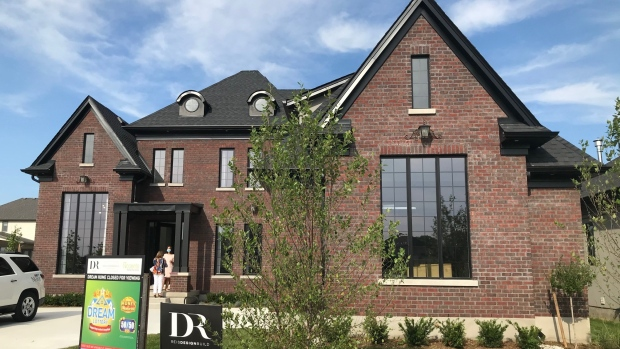 The Dream Lottery home is seen in London, Ontario on August 13, 2020. (Sean Irvine / CTV London)