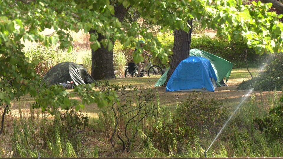 Campers who are sheltering in Victoria parks will be allowed to stay in their tents all day if they are awaiting an indoor sheltering space.