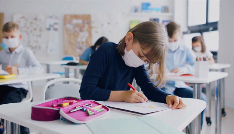 Dealing with the pandemic is done by balancing COVID protocols with the social side of life, according to GYPSD assistant superintendent Kelly Harding. And for some students, being at school is also a mood booster. (File photo)