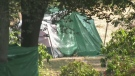 Parents concerned over encampment near school