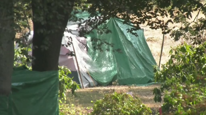 Parents concerned over encampment near school
