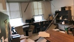 The ceiling collapsed at Calgary charter school Foundations for the Future Charter Academy, just weeks before students are due to return to classes.