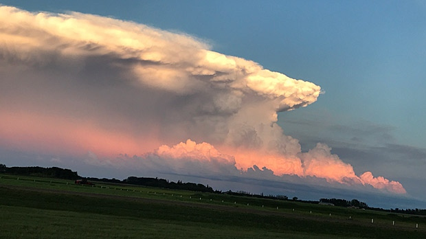 Storm clouds south of Brandon. Photo by Dennis Legare.