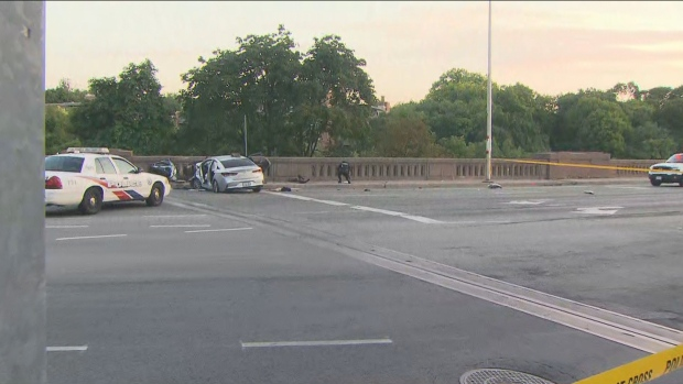 The SIU is investigating a crash on bridge near Parliament and Bloor streets that left one female injured.