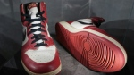 A pair of Michael Jordan's game-worn sneakers sold for $615,000, shattering a record set just months ago by the sale of another pair of the basketball legend's shoes. (AFP)