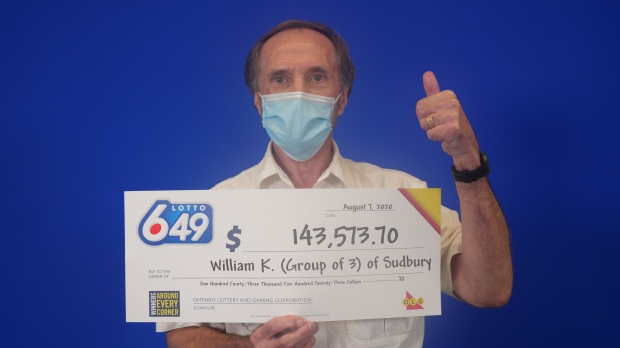 William Kingerski, a 74-year-old retired city worker, wins playing Lotto 6/49 with two other people. (OLG)