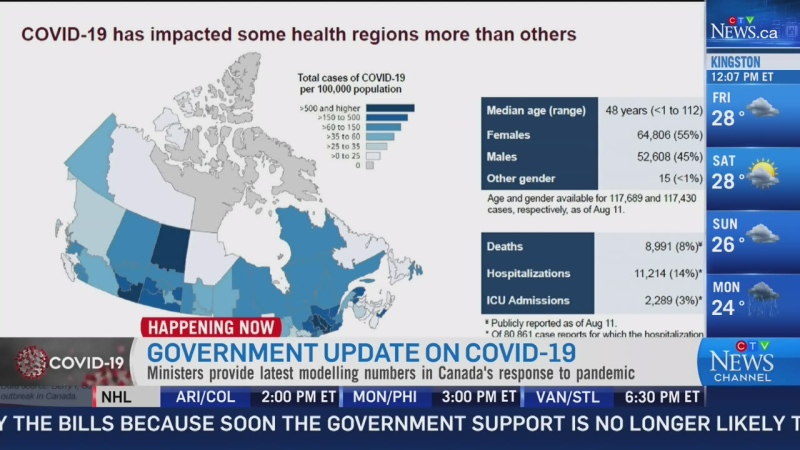 Ottawa provides update on COVID-19 modelling: P1