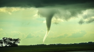 Tornado west of Brandon Manitoba. Photo by Ray Sweeting.