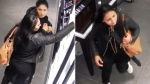 West Shore RCMP sought the public's help on July 7 identifying two women suspected of stealing more than $3,000 worth of cosmetics from a Shoppers Drug Mart in Langford. (RCMP)