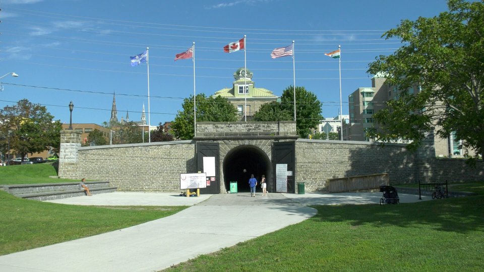 The Brockville Railway Tunnel underneath Brockville City Hall reopened on Friday for the first time this year due to the COVID-19 pandemic. (Nate Vandermeer/CTV News Ottawa)