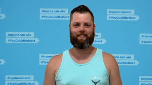 Vancouver Island resident Kyle Germiquet says he plans on using his winnings to help buy a larger home for his wife and kids: (B.C. Lottery Corporation)