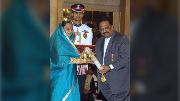 SP Balasubrahmanyam was moved to the ICU on Thursday night. (AFP/Getty Images)