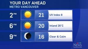 Friday's weather forecast