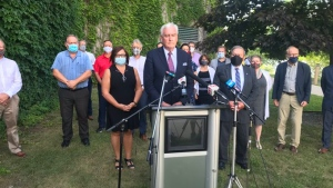 N.B. Liberal Leader Kevin Vickers says N.B. Premier Blaine Higgs wielded the threat of a snap election in a bid to have his minority government remain in power for another two years.