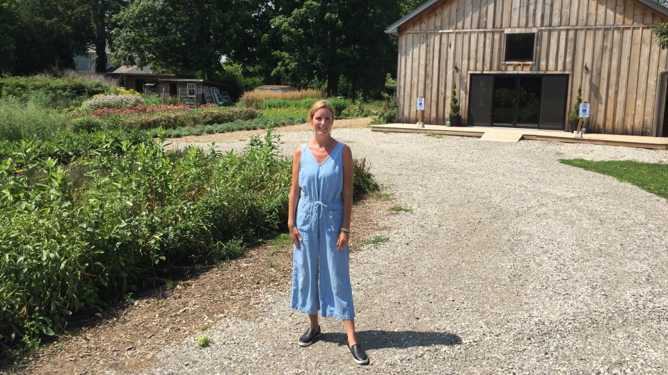 Jane Magri at Wildflowers Farms
