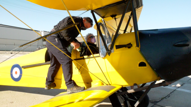 "Barbara ""Jo"" Reed  took to the sky over Saskatoon in a Second World War-era biplane to celebrate her 90th."
