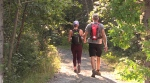 Erin and Mitch Chouinard were at the Kinsmen Sports Complex early Friday morning ready to take on what they expected to be at least a 5-6 hour adventure (Alana Pickrell/CTV Northern Ontario).