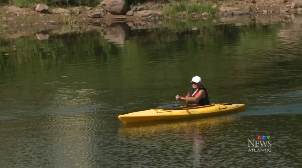 On a warm summer day, New Brunswick's Hammond River is a favourite among kayakers. But due to low water levels, the water measures just a few inches deep in places, creating some danger for boaters.