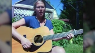 Jenny Massicotte performs Hey Jude by The Beatles from her backyard in Spanish, Ont.