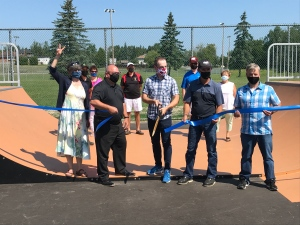 A new skateboarding park has opened in the Greater Sudbury community of Coniston (Ian Campbell/CTV Northern Ontario)