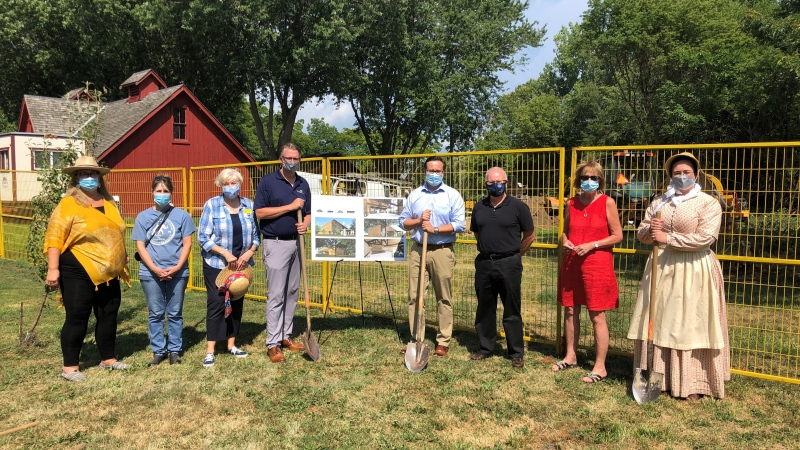 A groundbreaking ceremony was held for the new heritage centre in Essex, Ont. on Friday, Aug. 14, 2020.
