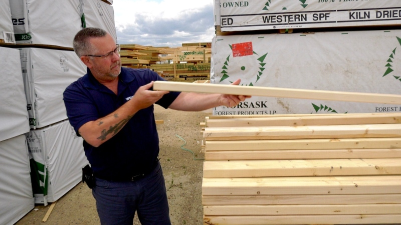 Arnold Reimer is concerned over the rising price of lumber.