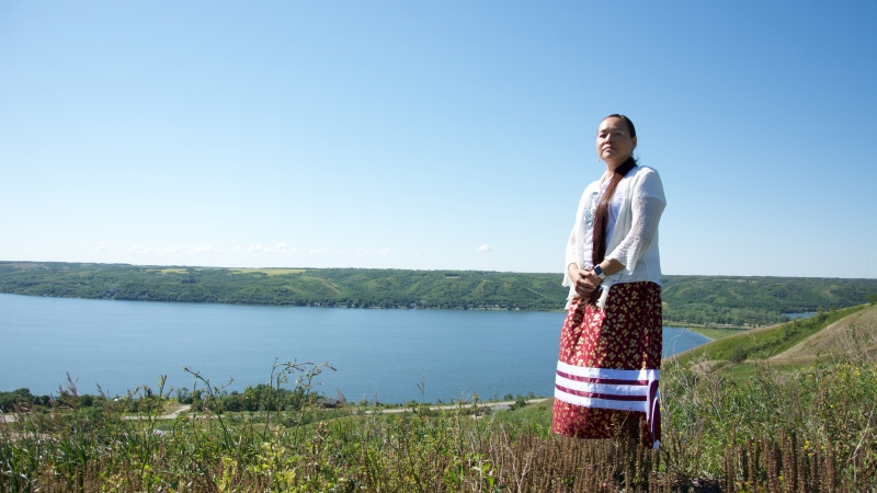 Standing Buffalo Dakota Nation Chief Roberta Soo-Oyewaste says she was not consulted by the government about the $4 billion irrigation project. (Jeremy Simes/CTV Regina)