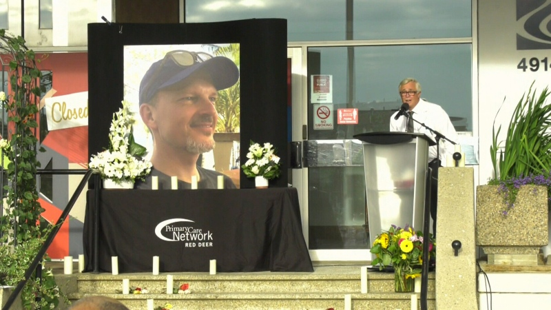 Vigil for slain doctor held in Red Deer, Alta.