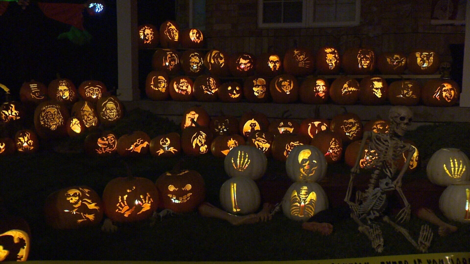 halloween  jack-o'-lantern pumpkins decorate