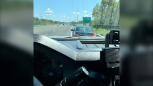 Greater Sudbury Police clocked a G2 driver going more than 70km/h over the speed limit (Courtesy of Greater Sudbury Police Service)