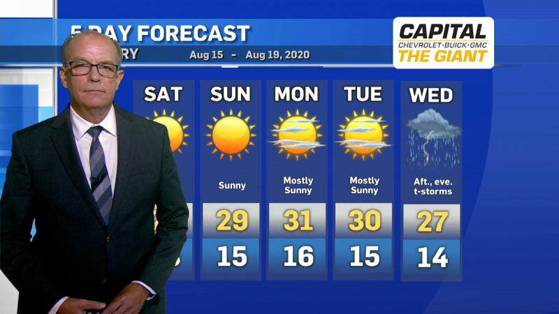 Calgary weather Aug. 14, 2020
