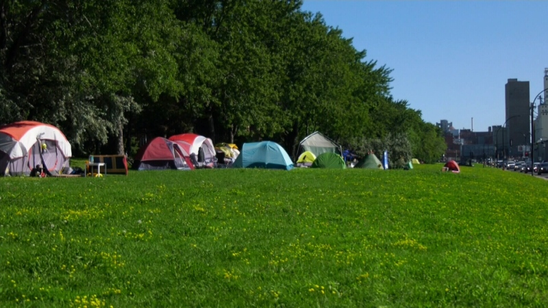 Tent city in Montreal