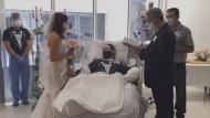Nurses organize patient's wedding at hospital