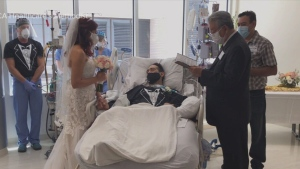 Nurses organize patient's wedding at hospital