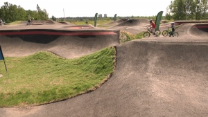The South Glenmore Bicycle Pump Track opened to the public Aug. 15, 2020