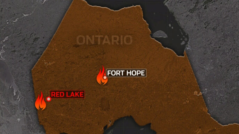 Crews continue to battle Red Lake wildfire
