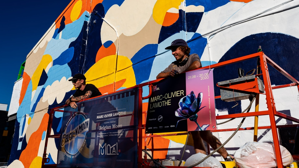A pop of colour for Mural Festival