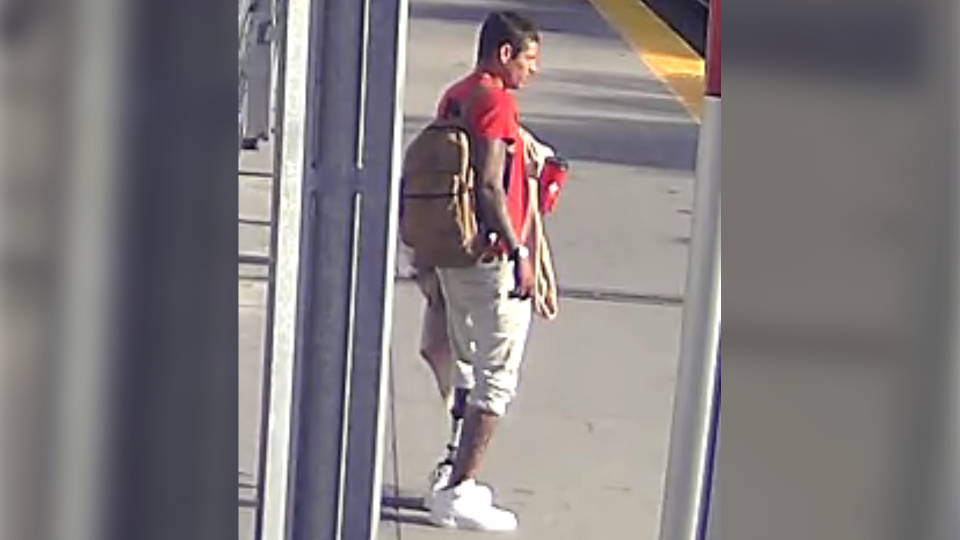 Surveillance still of the suspect in an Aug. 15 assault of a senior at the Sunnyside LRT station. Police have idenitified the man as Basil Sweezey (CPS)