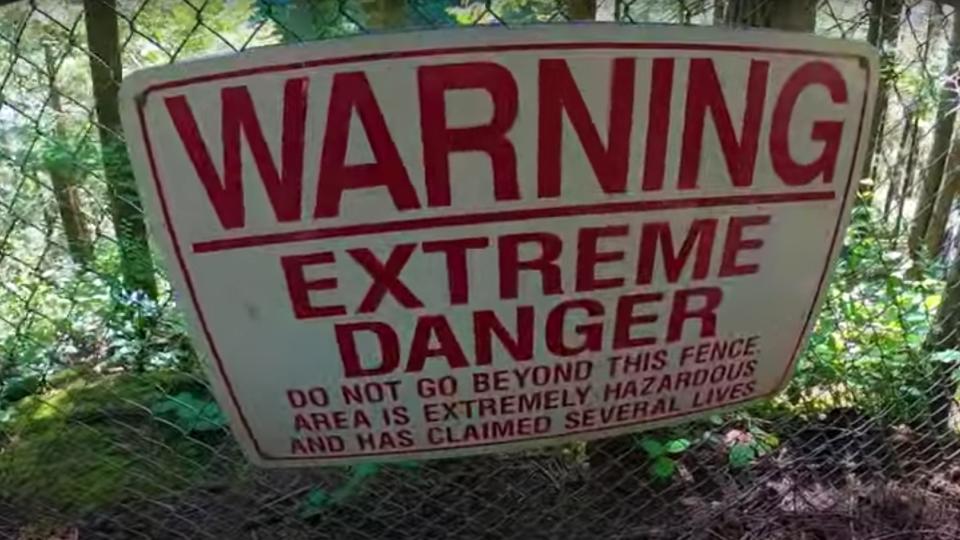 Cliff jumping danger