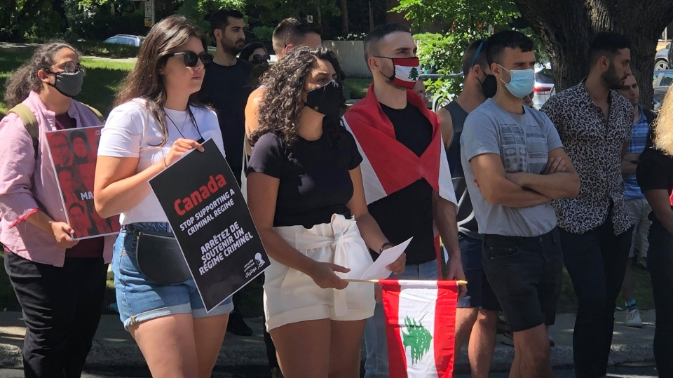 Montreal protesters demand Lebanon's regime leave