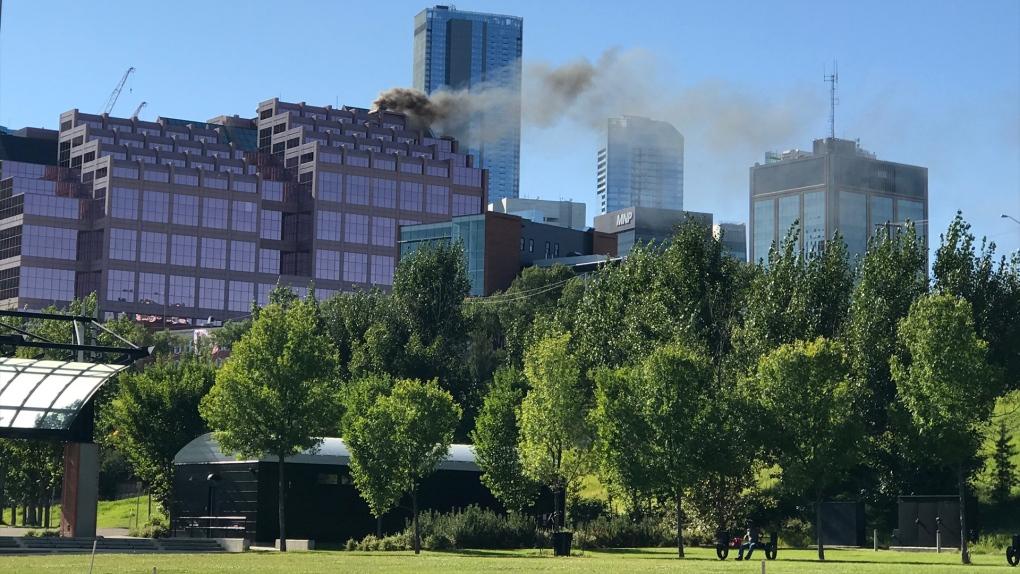 Canada Place smoke