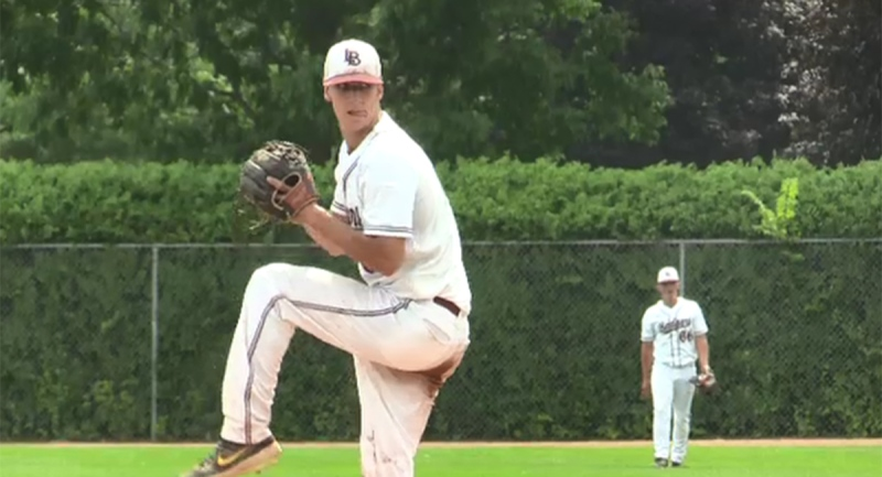 Carson Lumley prepares a pitch in London, Ont.