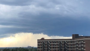 Dark clouds over western Ottawa, Mon. Aug. 17, 2020. (Ted Raymond / CTV News Ottawa)