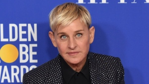 Ellen DeGeneres poses in the press room at the 77th annual Golden Globe Awards on Jan. 5, 2020, in Beverly Hills, Calif. (AP Photo/Chris Pizzello, File)
