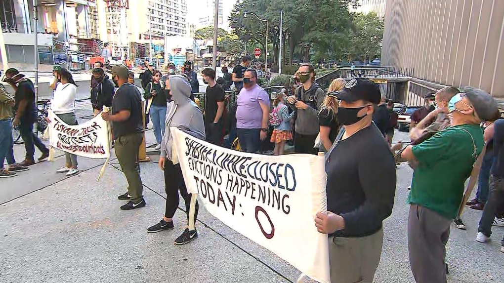 Evictions protest