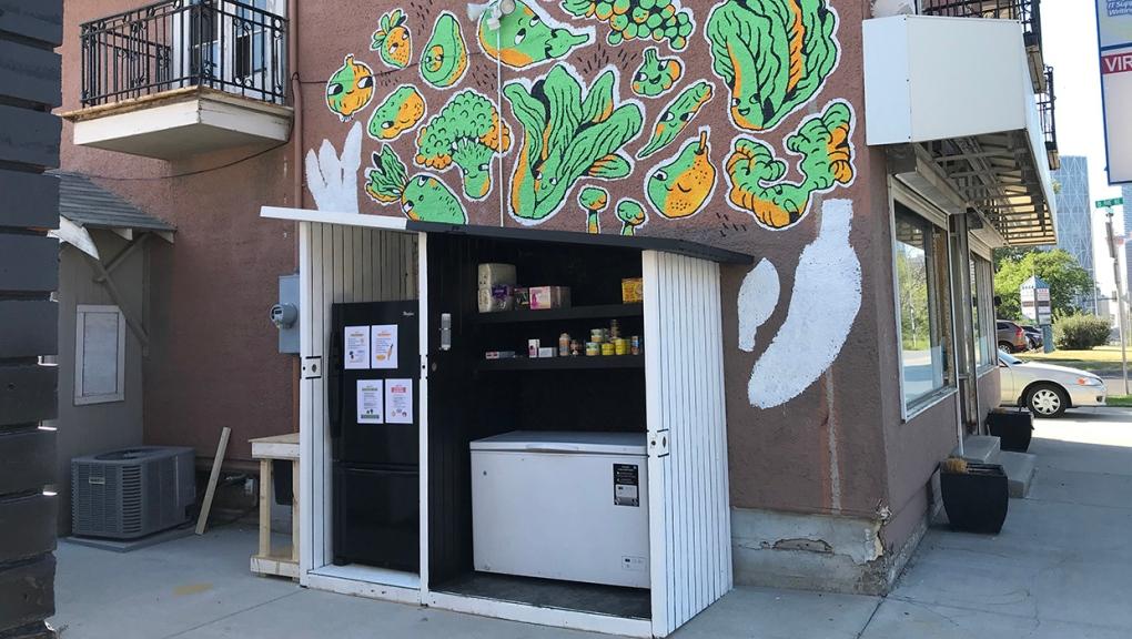 Calgary, community fridge, food bank